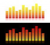 Illustration of moving sound graphs(Orange variant)