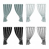 Curtains Blind Curtain Shutter Curtain Shade Portiere Drapes For Ceremony Performance Luxurious Curt poster