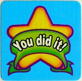 You Did It Sticker Scrapbooking