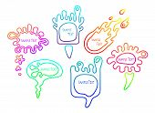 Smooth Colorful Speech Bubble Set