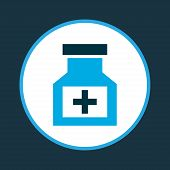 Remedy Icon Colored Symbol. Premium Quality Isolated Cure Element In Trendy Style. poster