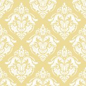Classic Seamless White Pattern. Damask Orient Ornament. Classic Vintage Background poster