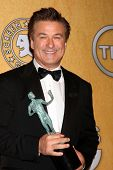 LOS ANGELES - JAN 29:  Alec Baldwin in the Press Room at the 18th Annual Screen Actors Guild Awards