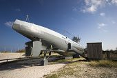 image of u-boat  - Submarine from World War 2 - It is located on the beach near Kiel in Germany �