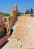 Odeon Of Herodes Atticus In Acropolis, Greece