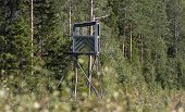 Tower where the hunter stays during the moose hunting.