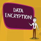 Word Writing Text Data Encryption. Business Concept For Another Form Code That Only Showing With Acc poster