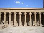 picture of aswan dam  - Columns at Philae temple in Aswan Egypt - JPG