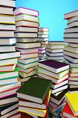 Big piles of books