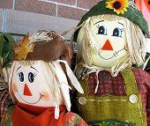 Halloween Scarecrow Couple