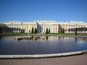 picture of zar  - garden and fountain at peterhof palace - JPG