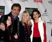 LOS ANGELES - 25 de NOV: Joe Mantegna, família chega ao desfile de Natal de Hollywood de 2012 em Hollyw
