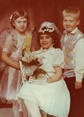 Vintage photo of First Communion (eighties)