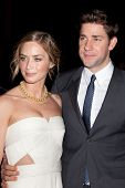NEW YORK, NY - NOVEMBER 26: Actors John Krasinski and Emily Blunt attend the IFP's 22nd Annual Gotha