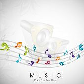 Musical notes. can be use as banner, tag, icon, sticker, flyer or poster.  EPS 10.