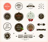 Christmas decoration collection | Set of calligraphic and typographic elements, frames, vintage circ