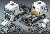 Isometric Truck Solo Driving In Two Position