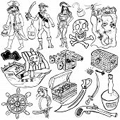 Pirate Icons Sketch