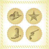 Vector Cowboy Icon Set