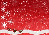 Snow Scene With Robins