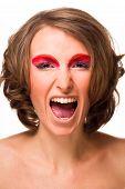 An Angry Woman Shouting