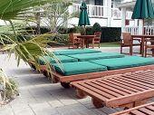 Resort - Loungechairs At Poolside Courtyard 3