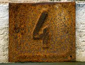 Rusty House Number Plate 4