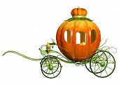 stock photo of cinderella  - Cinderella Fairy Tale Pumpkin Carriage - JPG