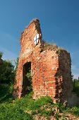 Ruins Of Brandenburg Castle In Ushakovo, Kaliningrad Region. Russia
