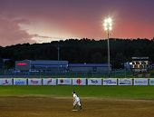 Canada Games Softball Woman Sky Sunset