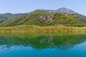 picture of dalyan  - Dalyan Lake and Mountain in Dalyan - JPG