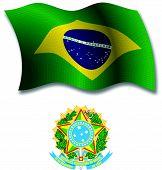 Brasil Textured Wavy Flag Vector