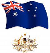 Australia Textured Wavy Flag Vector