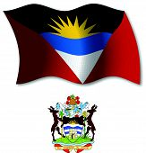 Antigua And Barbuda Textured Wavy Flag Vector
