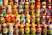 Russian Dolls On Display.
