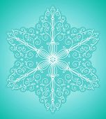 Snowflake design element