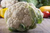 stock photo of edible  - Close up photo of edible vegetables  - JPG