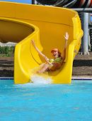 Girl In The Aquapark