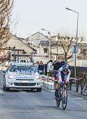 The Cyclist Johann Tschopp- Paris Nice 2013 Prologue In Houilles