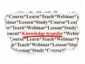 Education concept: Knowledge Transfer on Paper background