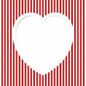 Red Striped Valentine