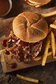 Barbeque Pulled Pork Sandwich