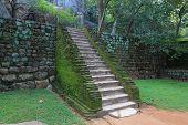 old stairs in Sigiriya, Sri Lanka