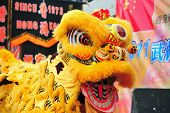 stock photo of lion  - Lion dance is a form of traditional dance in Chinese and Indonesian cultures - JPG