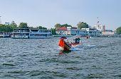 Boat On Chao Phraya River In Bangkok