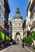Saint Stephen Basilica In Budapest, Hungary