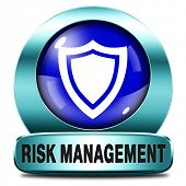 pic of fire insurance  - Risk management or assessment blue icon safety first - JPG