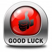 good luck red icon or fortune button, best wishes wish you the best of luck