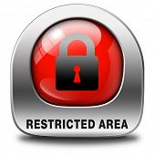 restricted area members only sign access key icon password protected