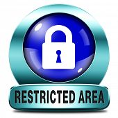 restricted area members only access key icon password protected